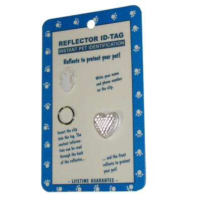 Reflex Small Heart Reflecting Dog Tag Clear