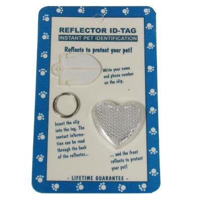 Reflex Large Heart Reflecting Dog Tag Clear