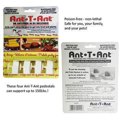Ant-T-Ant Ant Prevention Pedestal 4 Pack Click for larger image