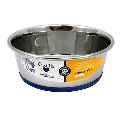 Durapet Premium Stainless Steel Pet Bowl 1.2pt Click for larger image