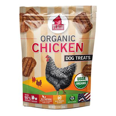 Plato Organic Chicken Dog Treats 16-oz.