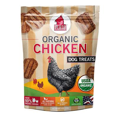 Plato Organic Chicken Dog Treats 6-oz. Click for larger image