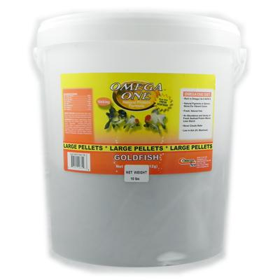 Omega One Large Sinking Goldfish Pellets Fish Food10-Lbs.