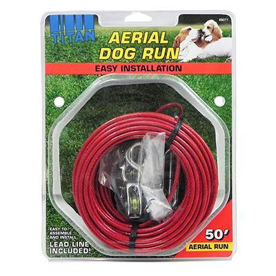 Titan Aerial Dog Run Tree Trolley 50-ft.