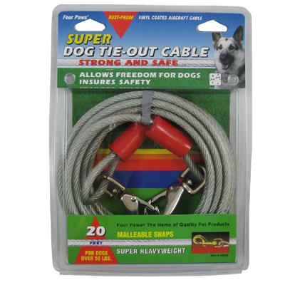 Super Heavy Weight Tie-Out Cable for Large Dogs 20-ft.