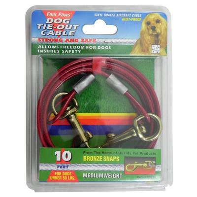 Medium Weight Tie-Out Cable for Small to Medium Dogs 10-ft.