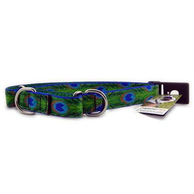 Lupine Martingale Dog Collar Tail Feathers 19-27 inches