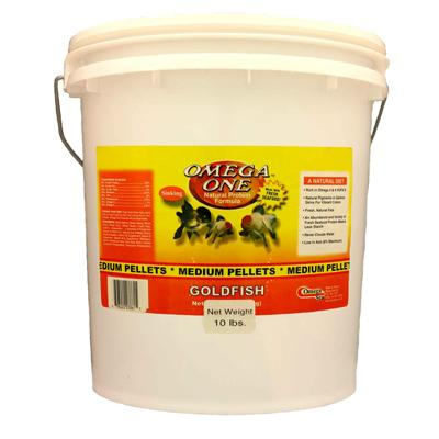 Omega One Medium Sinking Goldfish Pellet Fish Food 10-Lbs. Click for larger image
