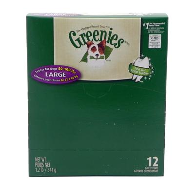 Greenies Large Size Dog Dental Treat 12 Pack
