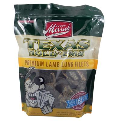 Merrick Texas Hold'Ems Natural Lamb Lung Dog Treat 12oz