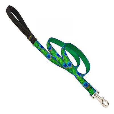 Lupine Nylon Dog Leash 6-foot x 3/4-inch Tail Feathers Click for larger image