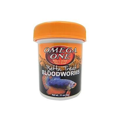 Omega One Betta Treat Freeze Dried Bloodworms .11 ounce Click for larger image