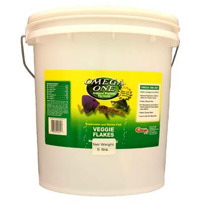 Omega One Veggie Flakes Fish Food 5 lb.