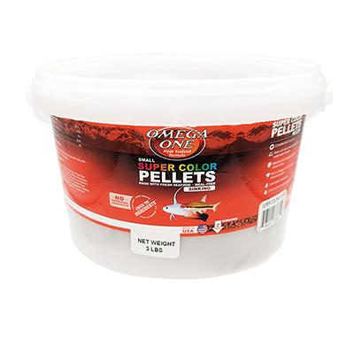 Omega One Super Color Sinking Pellets Fish Food 3-Lb. Click for larger image