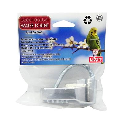 Lixit Soda Bottle Bird Water Fount for Caged Birds