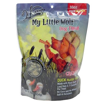 Waggers My Little Wolf Dog Treat Duck Hunter Recipe 16 oz