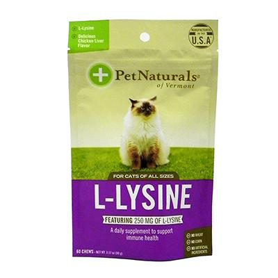 Pet Naturals Cat L-Lysine Chicken Liver 60 ct