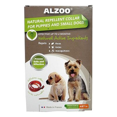 Alzoo Natural Flea and Tick Repellent Dog Collar Small