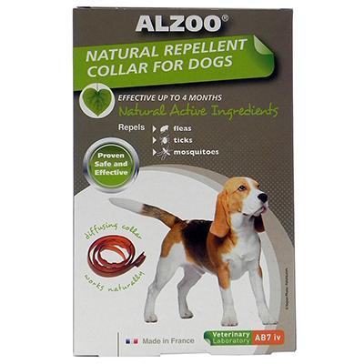 Alzoo Natural Flea and Tick Repellent Dog Collar Medium Click for larger image