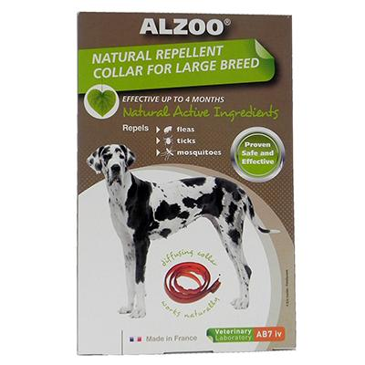 Alzoo Natural Flea and Tick Repellent Dog Collar Large Click for larger image