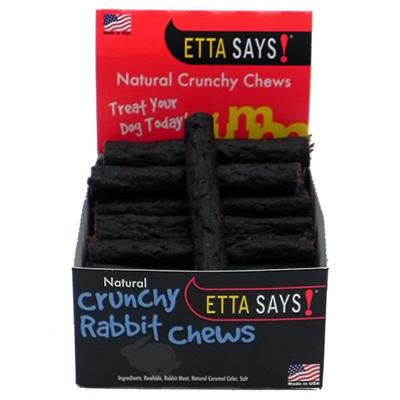 Etta Says! USA Ultimate Crunchy Rabbit Chews for Dogs 4 inch