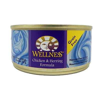 Wellness Chicken And Herring Canned Cat Food 5.5oz Case