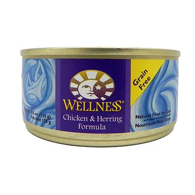 Wellness Chicken And Herring Canned Cat Food 5.5oz Each