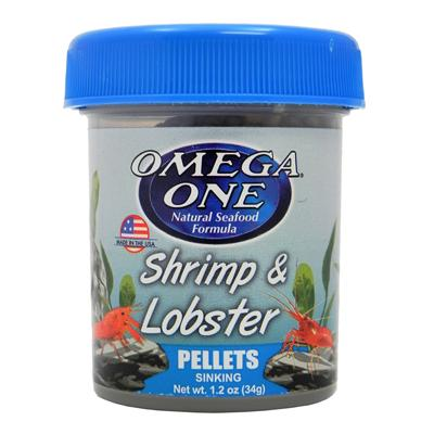 Omega One Shrimp and Lobster Pellets 1.2-oz Click for larger image