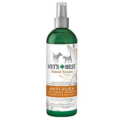 Vets Best Natural Anti-Flea Spray Shampoo 16oz