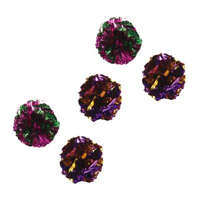 Mylar Krinkle Ball Cat Toy 1.5-inch 5 Pack