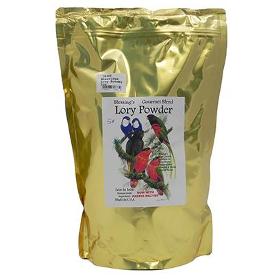 Blessing's Gourmet Lory Powder Dry Lorikeet Food 5lb Click for larger image