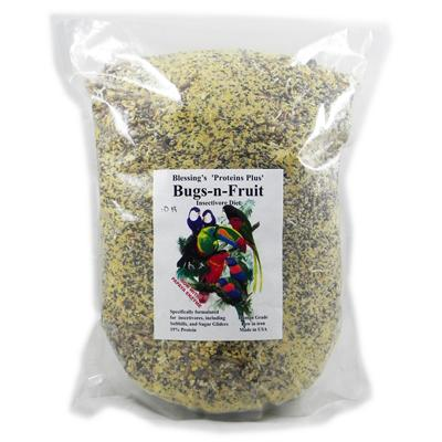 Blessing's Bugs-N-Fruit Low-Iron Insectivore Diet 10-Lb. Click for larger image
