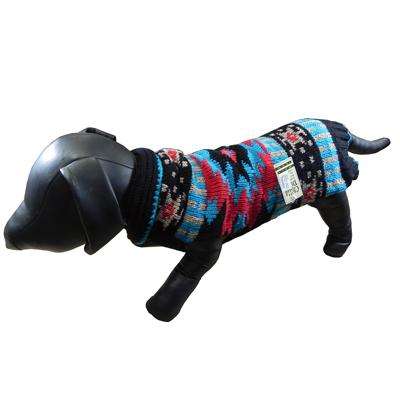 Handmade Dog Sweater Wool Navajo Shawl XSmall