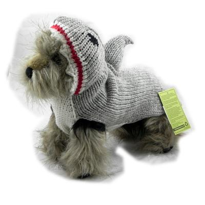 Handmade Dog Sweater Wool Shark XSmall