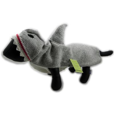 Handmade Dog Sweater Wool Shark Large