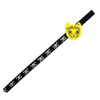 Beastie Band Cat Collar Skull and Crossbones Click for larger image