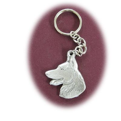 Pewter Key Chain I Love My German Shepherd