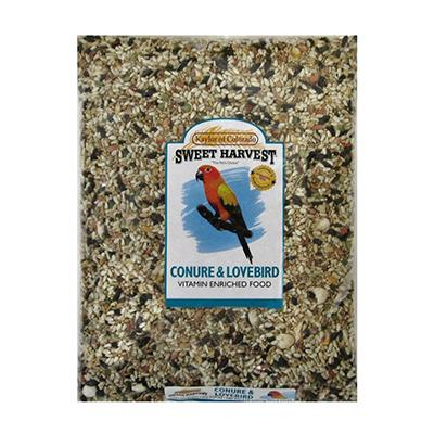 Sweet Harvest Conure and Lovebird Bird Food 20Lb. Click for larger image