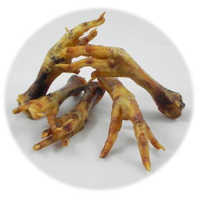 Baked Chicken Foot All Natural Dog Treat Click for larger image