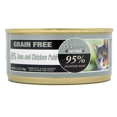 Dave's 95% Cat Tuna & Chicken 5oz case
