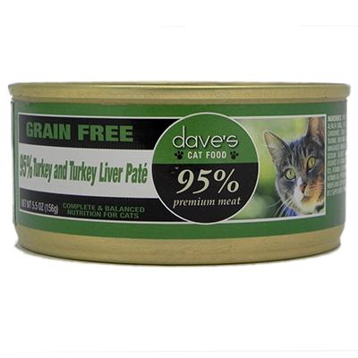 Dave's 95% Turkey & Turkey Liver Cat 5oz each