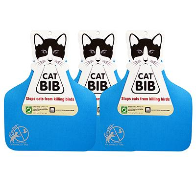 CatBib WildBird Saver Blue Big 3 pack