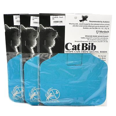 CatBib WildBird Saver Teal Big 3 pack