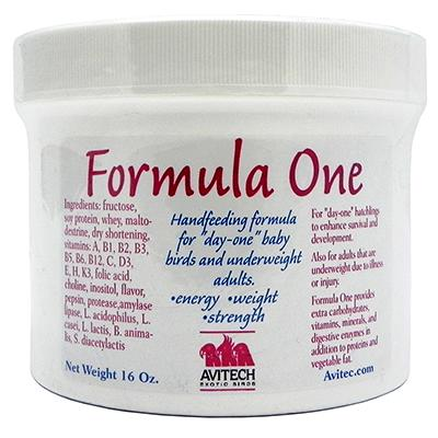Avitech Formula One Handfeeding Supplement for Birds 16oz.