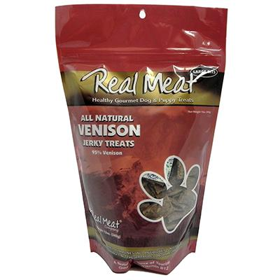 Real Meat All Natural Venison Dog Jerky Treats 12oz. Click for larger image