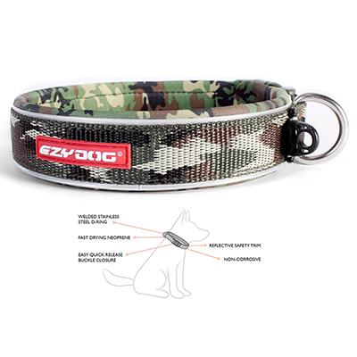 EzyDog Neo Collar Adjustable Green Camo Small