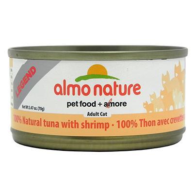 Almo Nature Cat Food Tuna Shrimp 2.7oz case
