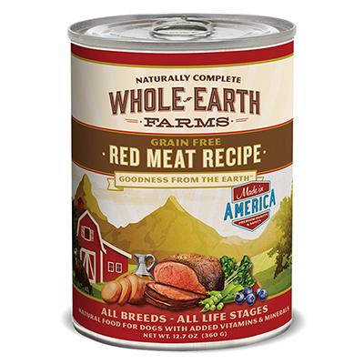 Whole Earth Grain Free Red Meat 12oz each