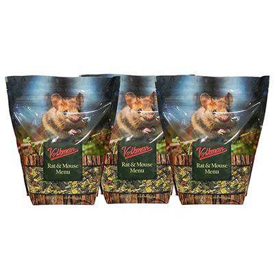 Volkman Premium Rat and Mouse Menu Rodent Food 4Lb. 3 Pack