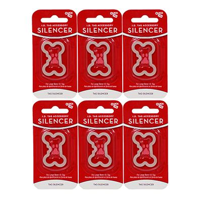 Dog Tag Silencer Large Bone Shape 6 pack Click for larger image